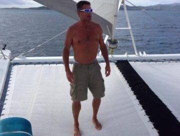 Client Robert Knotek frontal before picture on sailboat